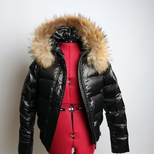 Moncler Jacket Down Filled Puffy Fur Lining Size 2